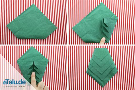 servietten falten weihnachtsbaum anleitung serviette falten tannenbaum talu de
