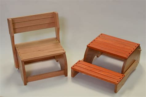 step stool woodworking plans step stool chair wood plans free