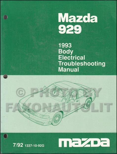 how to download repair manuals 1995 mazda 929 electronic valve timing 1993 mazda 929 repair shop manual original