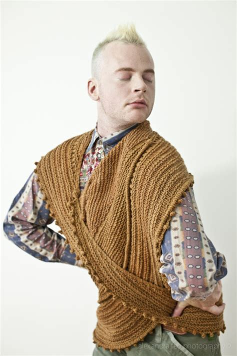 stephen west knitting madame portrait knitting product photography with