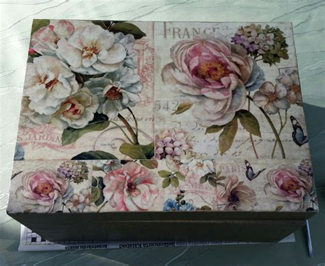 pictures for decoupage diy project shabby chic decoupage storage box