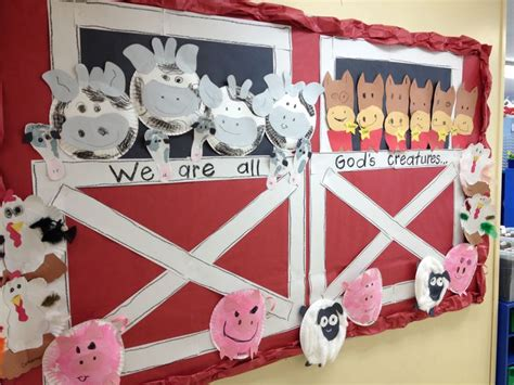 farm crafts for farm animal bulletin board idea for crafts and