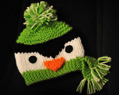 knitting pattern for penguin penguin beanie pattern size 0 4 years by woohoopepper