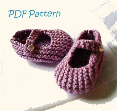 knitted shoes pattern free 3 6 mths baby shoes pdf knitting pattern