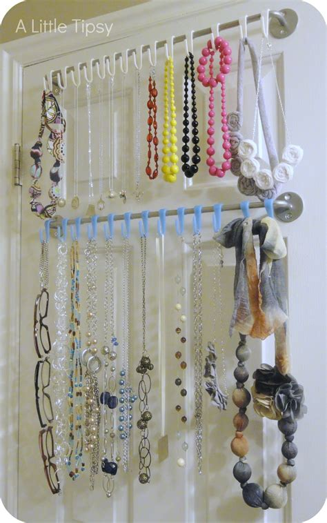 how to make jewelry hanger diy jewelry organizer a tipsy