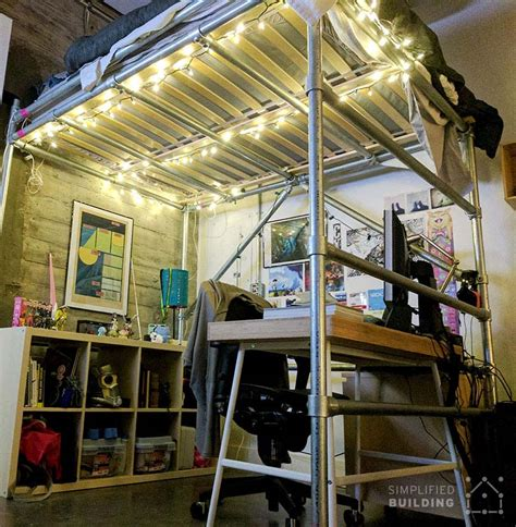 loft bed frame for adults diy size loft bed for adults with plans to build