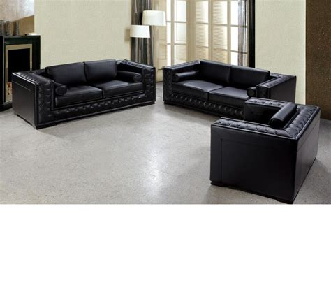 tufted leather sofa set dreamfurniture divani casa dublin modern tufted