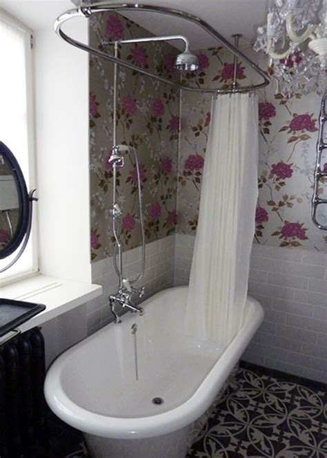 roll top bath and shower roll top bath shower bathroom there s no place like