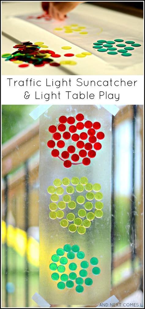 traffic light craft for traffic light suncatcher light table play light