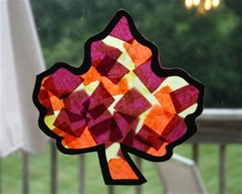 tissue paper leaf craft 25 autumn craft ideas