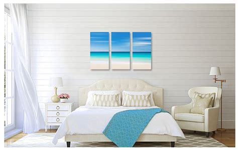 Oversized Wall Stickers photography for sale canvas beach decor triptych large