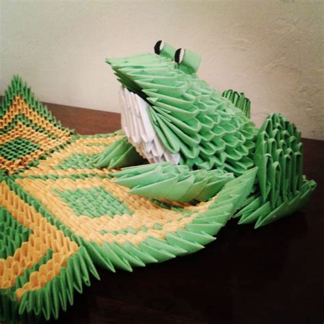 3d origami frog 3d origami frog by taimagroo on deviantart
