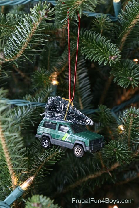 car ornament bringing home the tree car ornament for to make