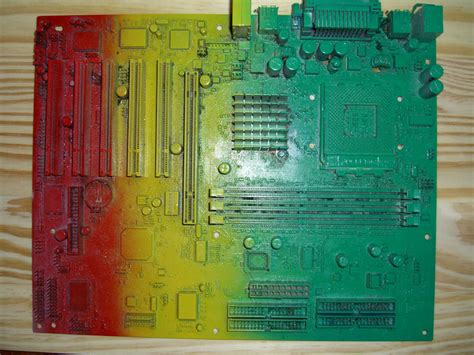 spray paint motherboard painting connectors on mobo cpus motherboards and
