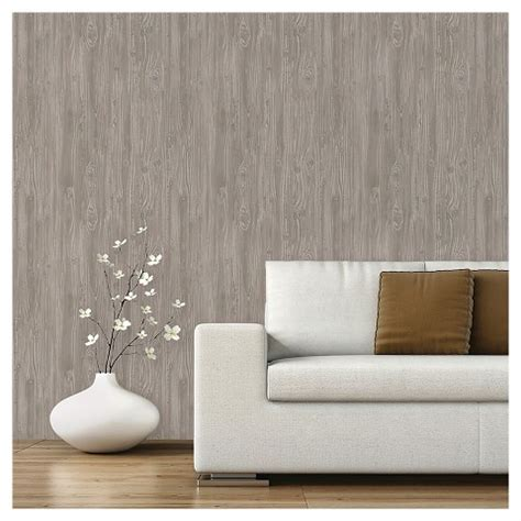 peel and stick wallpaper color textured driftwood peel stick wal target
