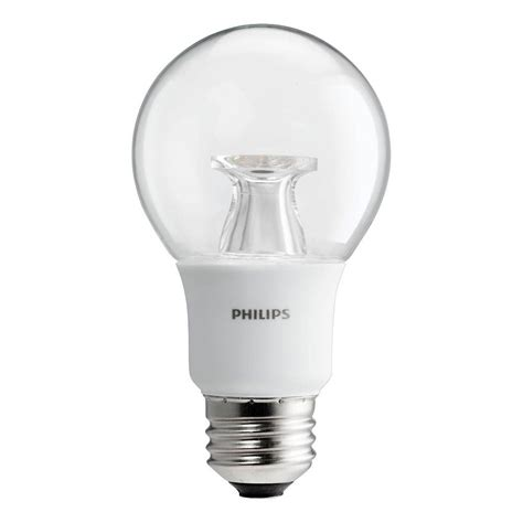 warm glow led lights philips 40w equivalent soft white clear a19 dimmable led