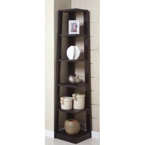 5 tier bookshelves poundex 5 tier black corner bookcase