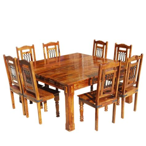 square dining chairs solid wood rustic square dining table chairs set