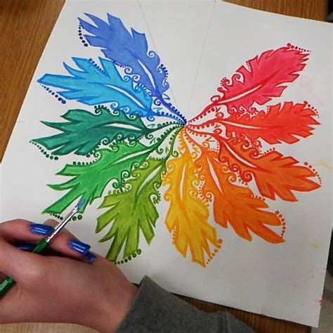 creative acrylic painting ideas acrylic paint color wheel high school painting