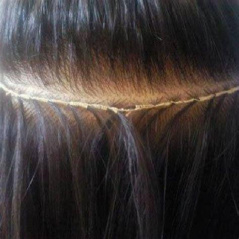 beaded braidless sew in want flat tracks braidless sew in tracks by tonee shaw