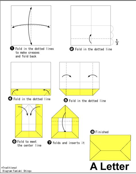 how do you make an origami envelope origami letter