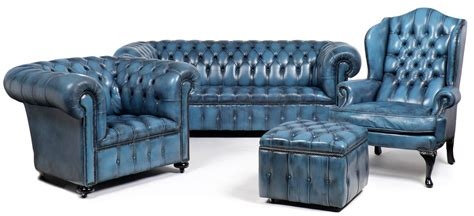 blue leather chesterfield sofa vintage steel blue leather chesterfield wingback armchair