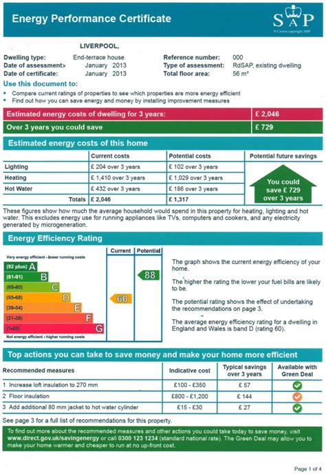 New Home Plans And Prices energy performance certificates
