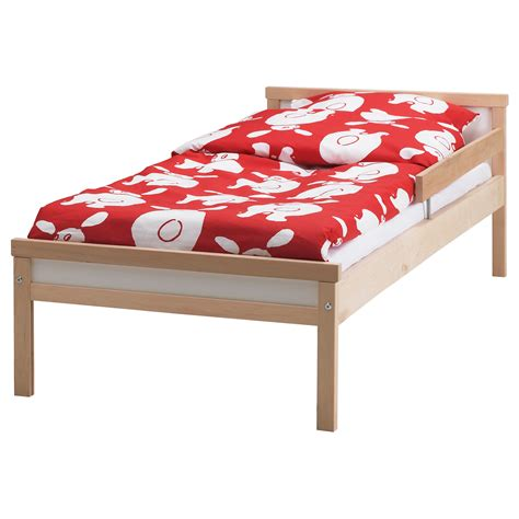 ikea toddler to bed sniglar bed frame with slatted bed base beech 70x160 cm ikea
