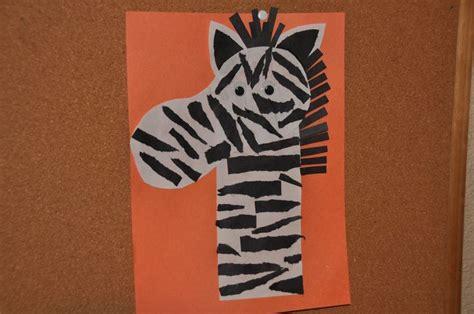 zebra craft for zebra craft class