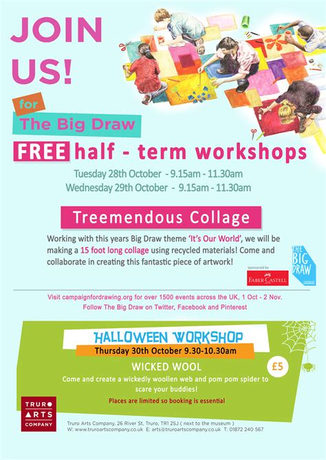 craft workshops for truro arts company 187 big draw poster