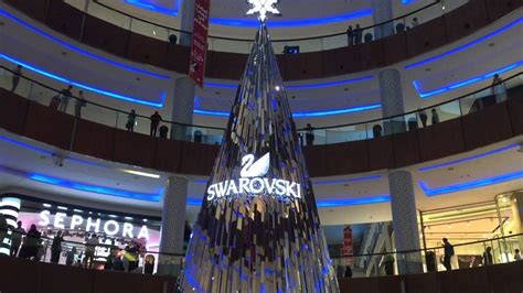 mall tree swarovski diamonds tree dubai mall uae the
