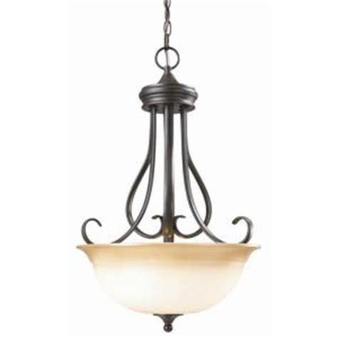 home depot pendant light fixtures design house cameron 1 light rubbed bronze pendant