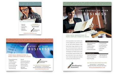 bookkeeping amp accounting services flyer amp ad template