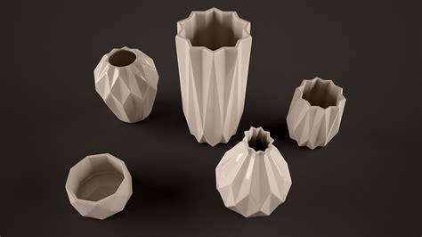 origami vases origami vases 3d model max obj fbx cgtrader