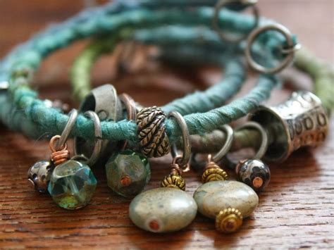 material to make jewelry 25 best ideas about fabric bracelets on