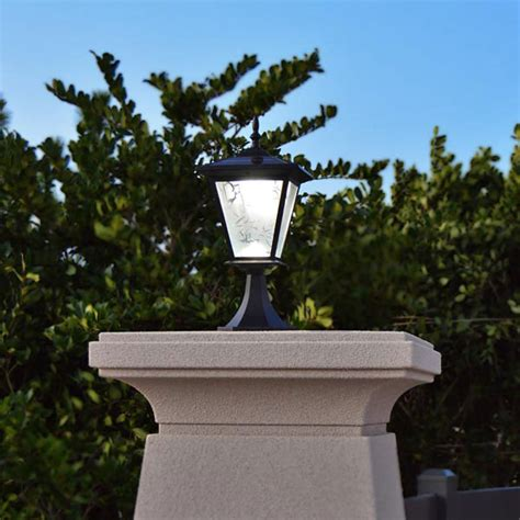 solar column lights outdoor pillar or column mount solar lights galaxy solar