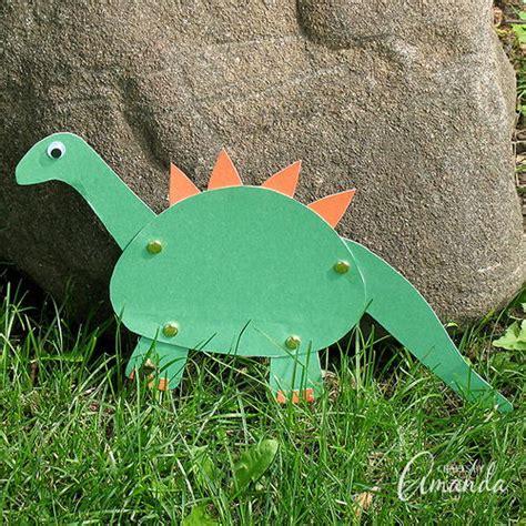 dinosaur paper craft construction paper dinosaur craft allfreepapercrafts