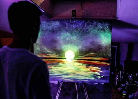 glow in the paint quality glow in the paint reveals surprises in paintings when