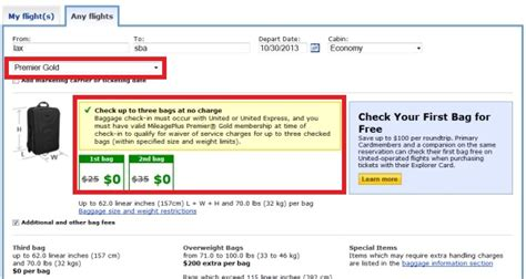 united airlines checkin baggage fee united airlines reduces alliance gold checked baggage