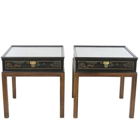 drexel end table pair of drexel chinoiserie style end tables for sale at