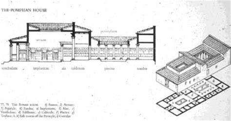 pompeian house plan pompeian house