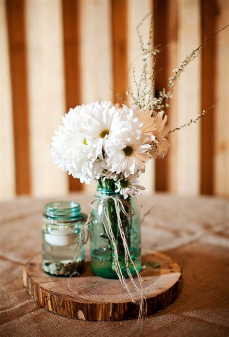 rustic table centerpieces barn wedding on a budget rustic wedding chic