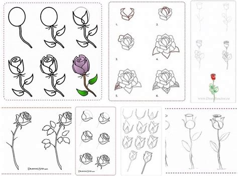 drawing tutorials how to draw flowers step by step diy tutorial