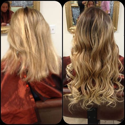 bead in extensions before and after micro hair extensions yelp