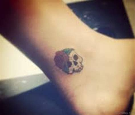 28 nice skull tattoos on ankle