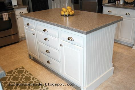 how to kitchen island on the v side diy kitchen island update