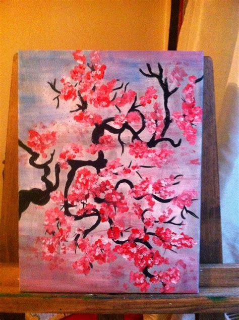 acrylic painting cherry blossom acrylic painting cherry blossom my paintings