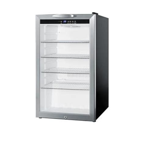 refrigerator with glass door for homes summit appliance 4 cu ft compact glass door all