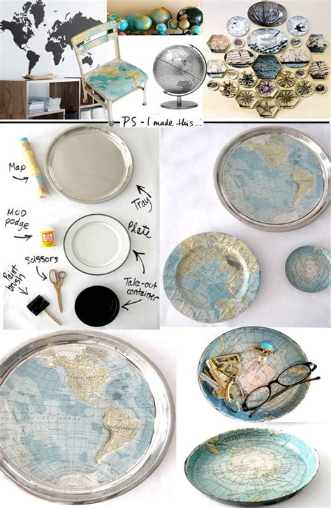 decoupage with maps 32 inventive ways to repurpose maps diy craft tutorials