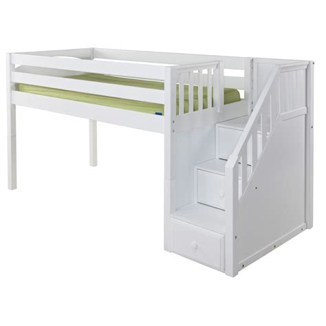 low bunk beds with stairs great low loft bed with staircase rosenberryrooms
